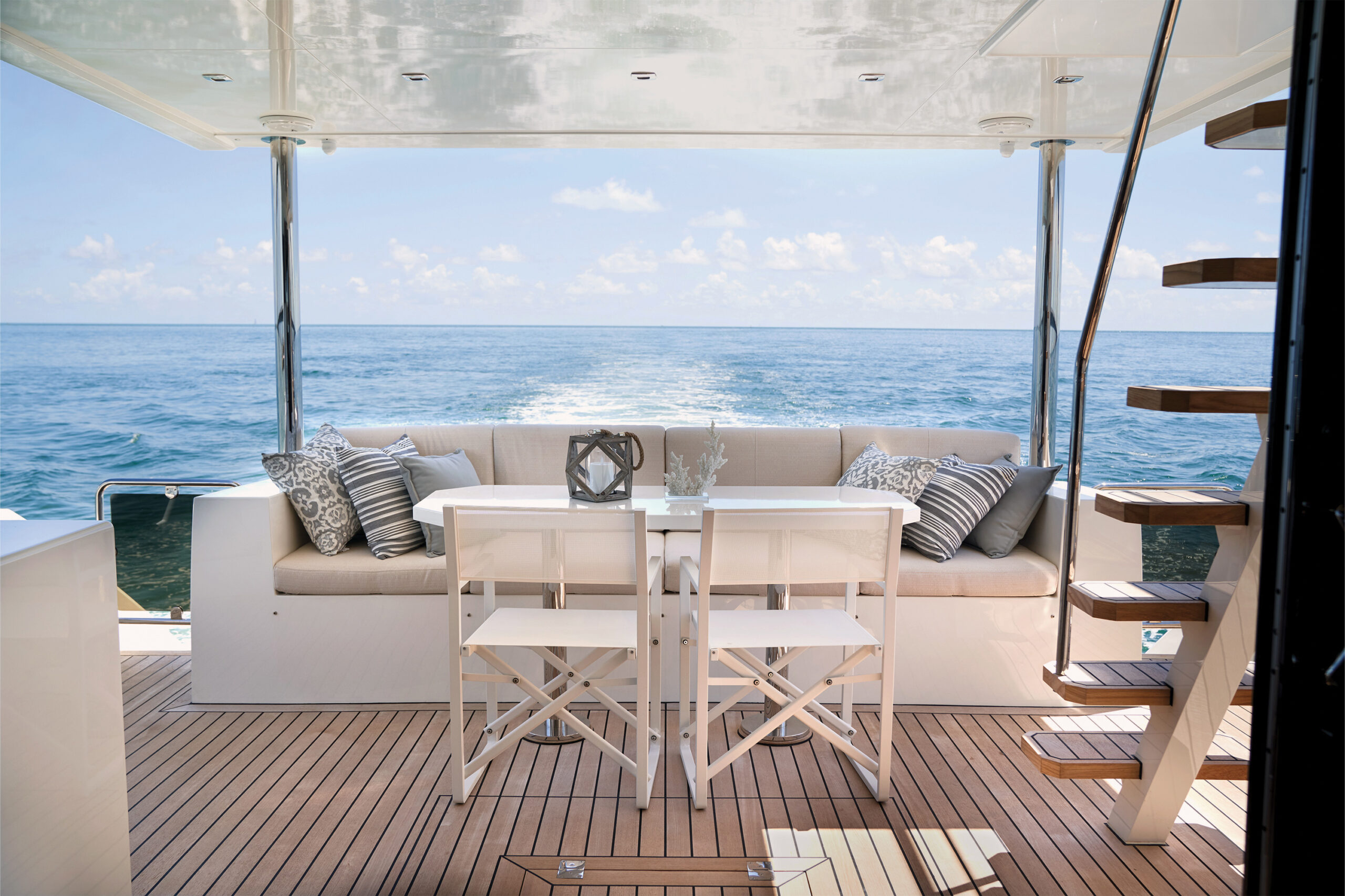 aft deck on the CL Yachts CLA76