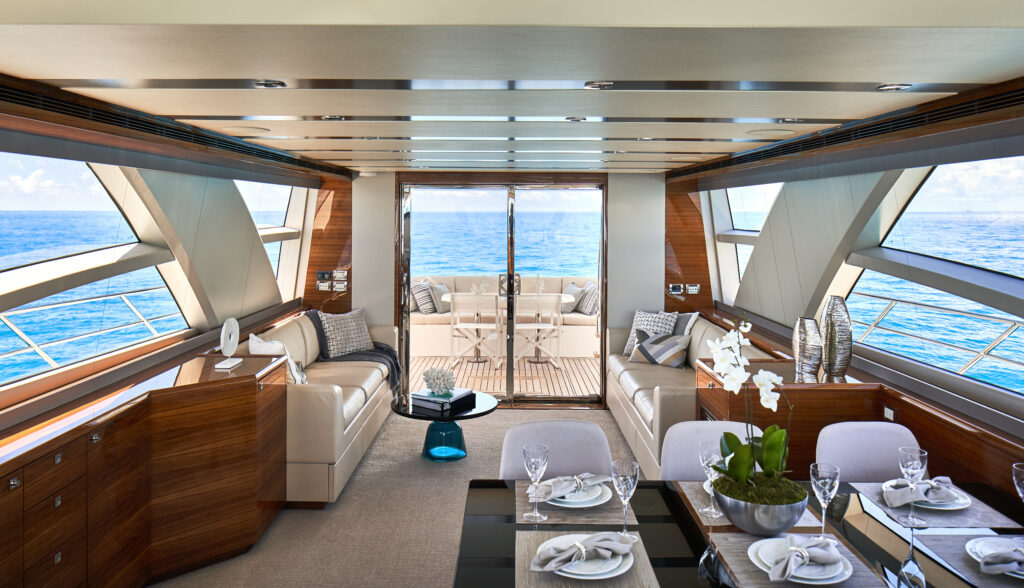 interior of the CL Yachts CLA76