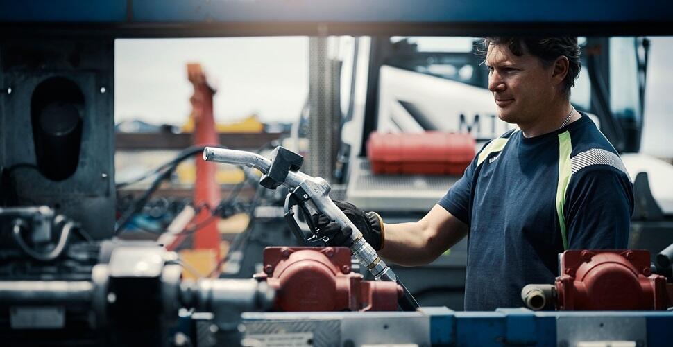 man working at Gothenburg RoRo terminals