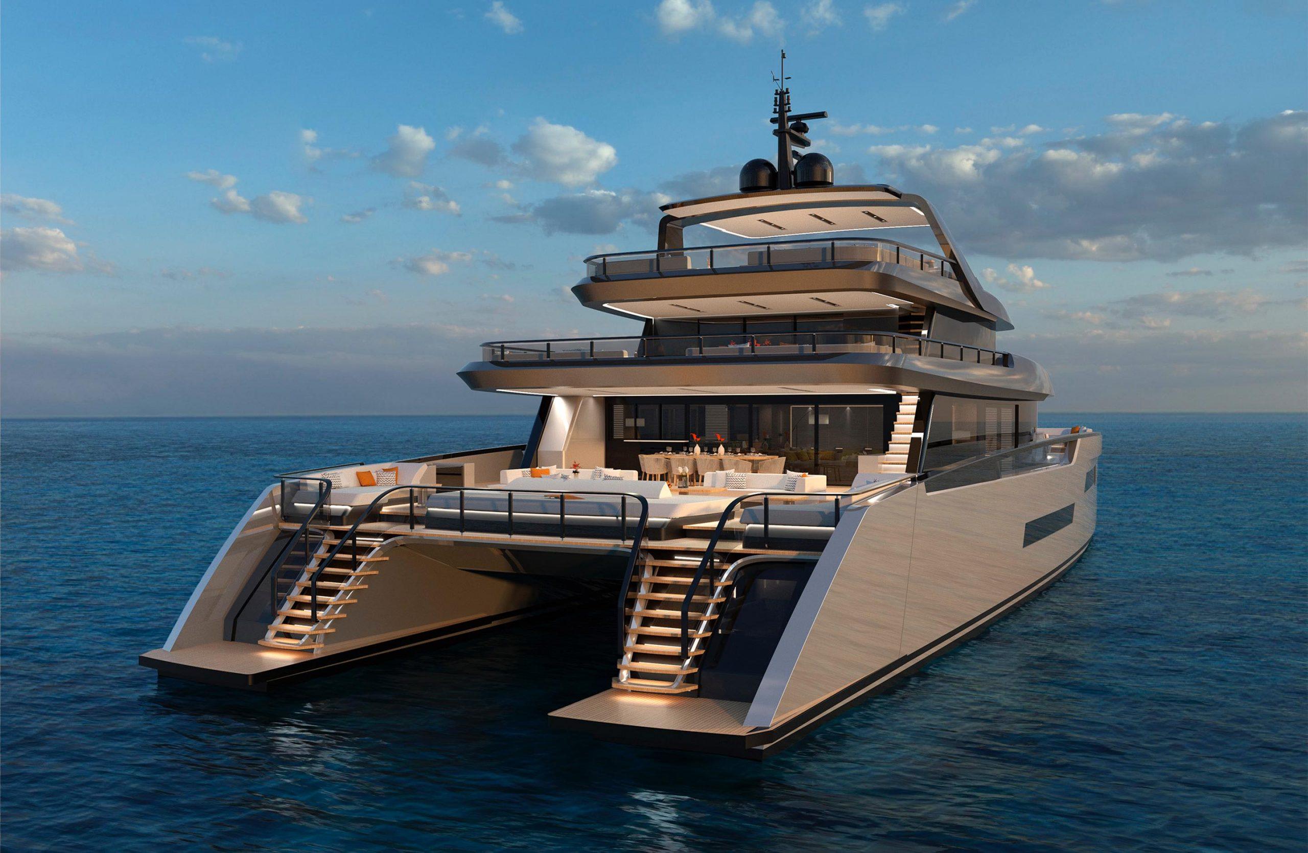 ISA Yachts Zeffiro from rear