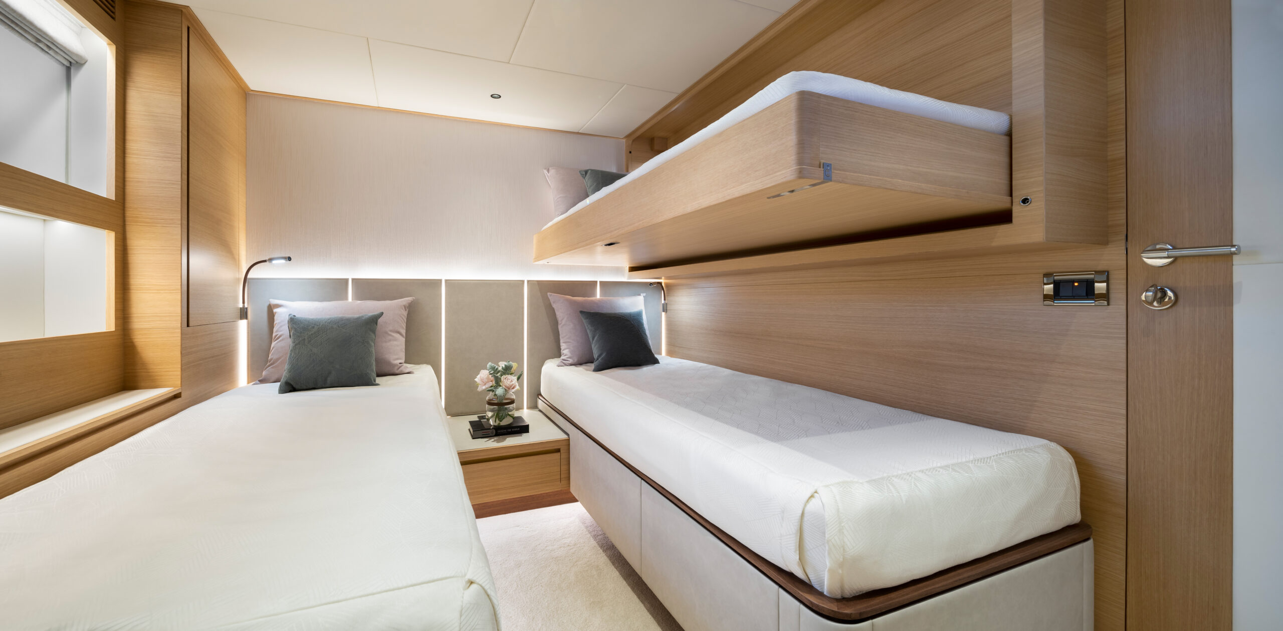Horizon FD90 twin guestroom