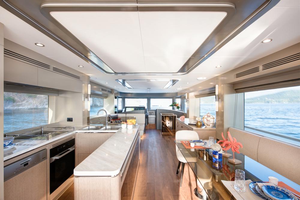 Sirena 68 interior galley