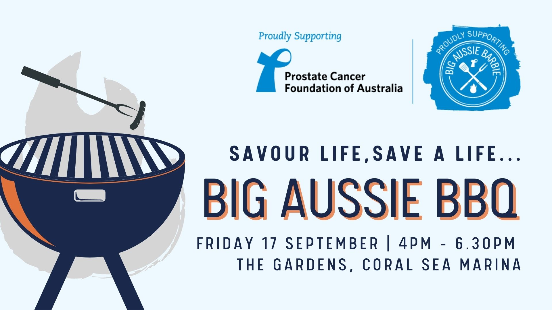 Promotional poster for CSMR Big Aussie BBQ