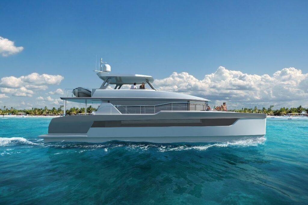 Two Oceans Power Catamaran side profile