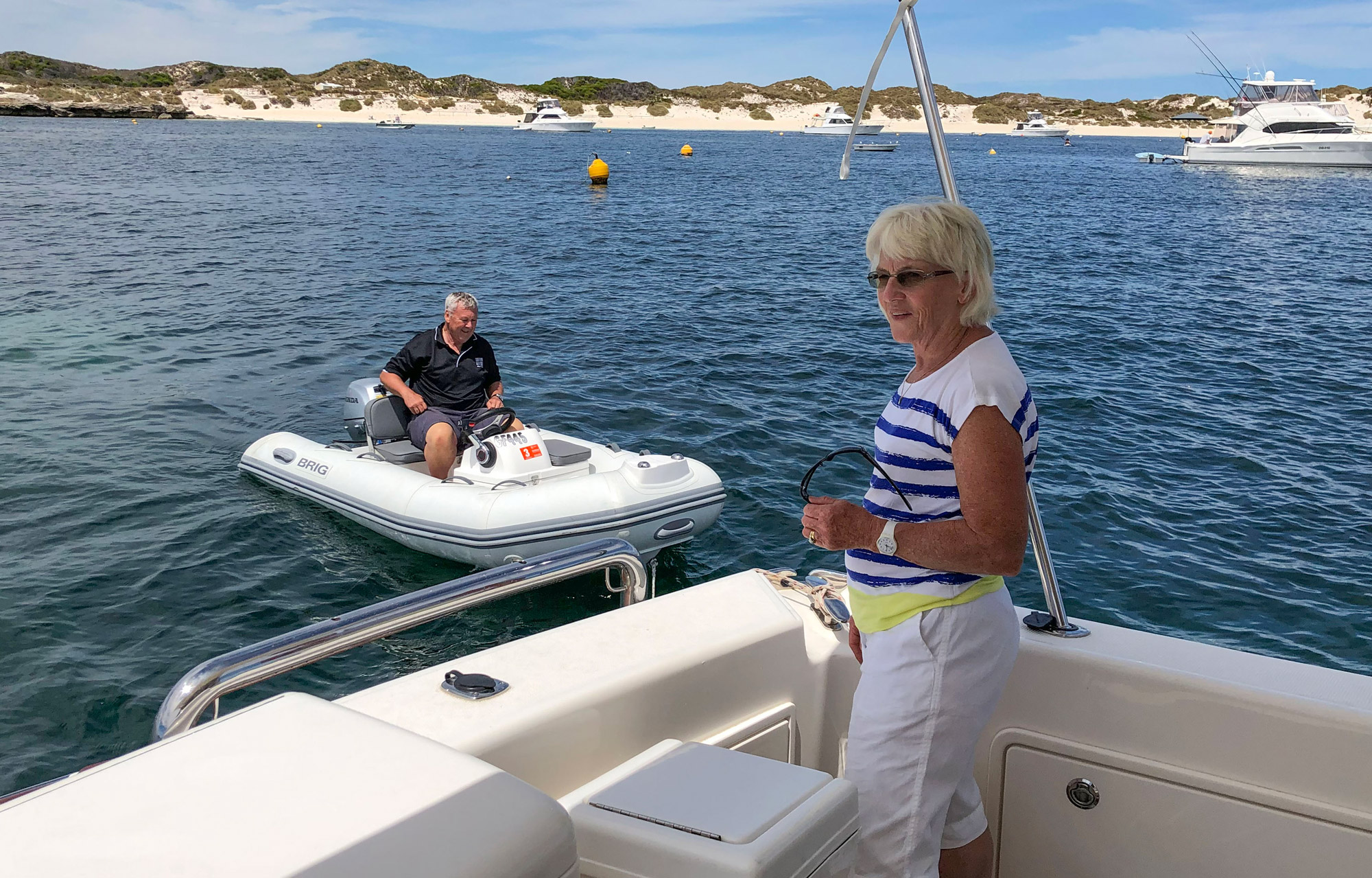 Riviera Owners boarding at Rottnest Island
