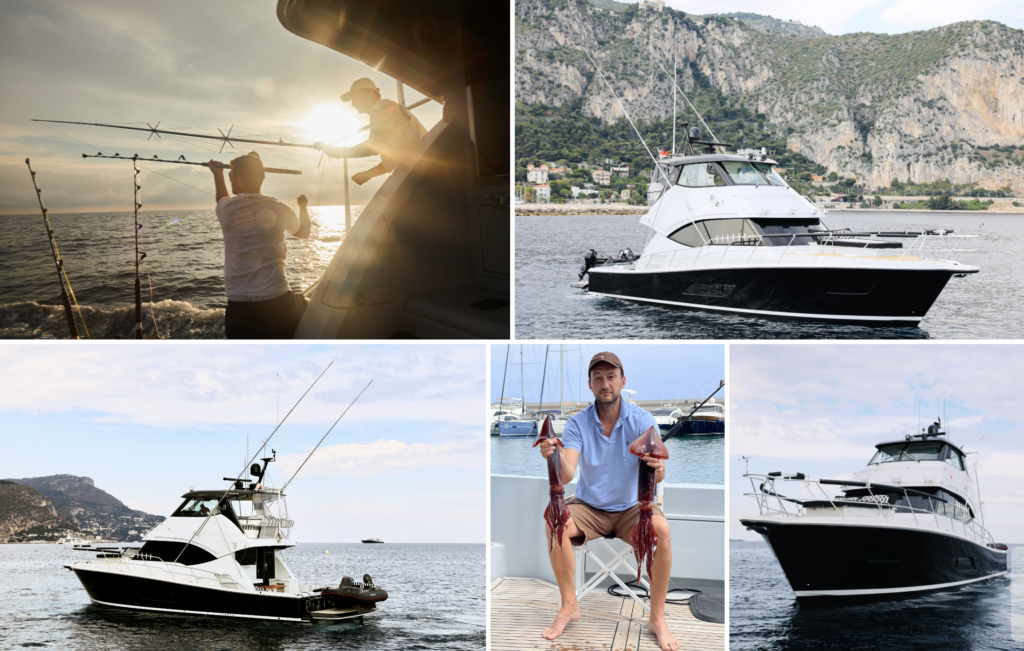 Collection of photos from Yuri fishing on his Riviera