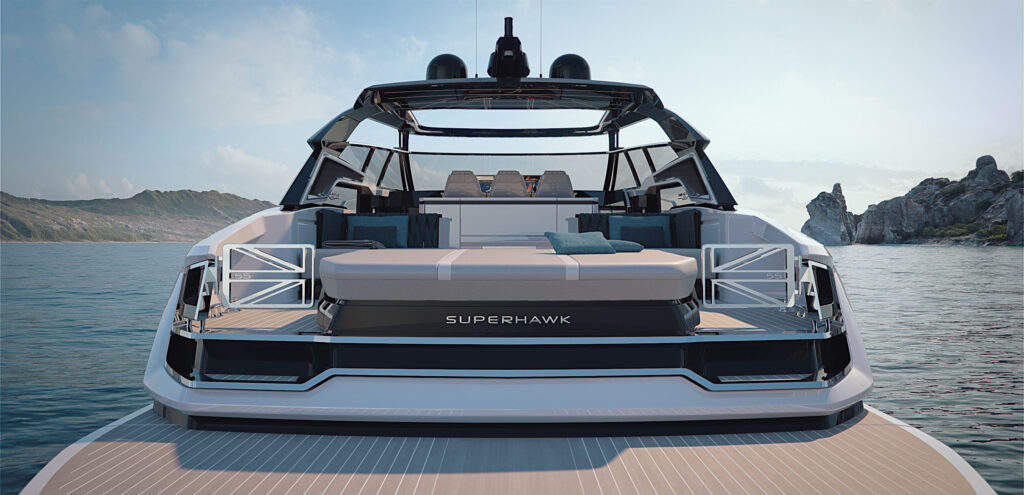 Sunseeker Superhawk 55 rear adventure deck