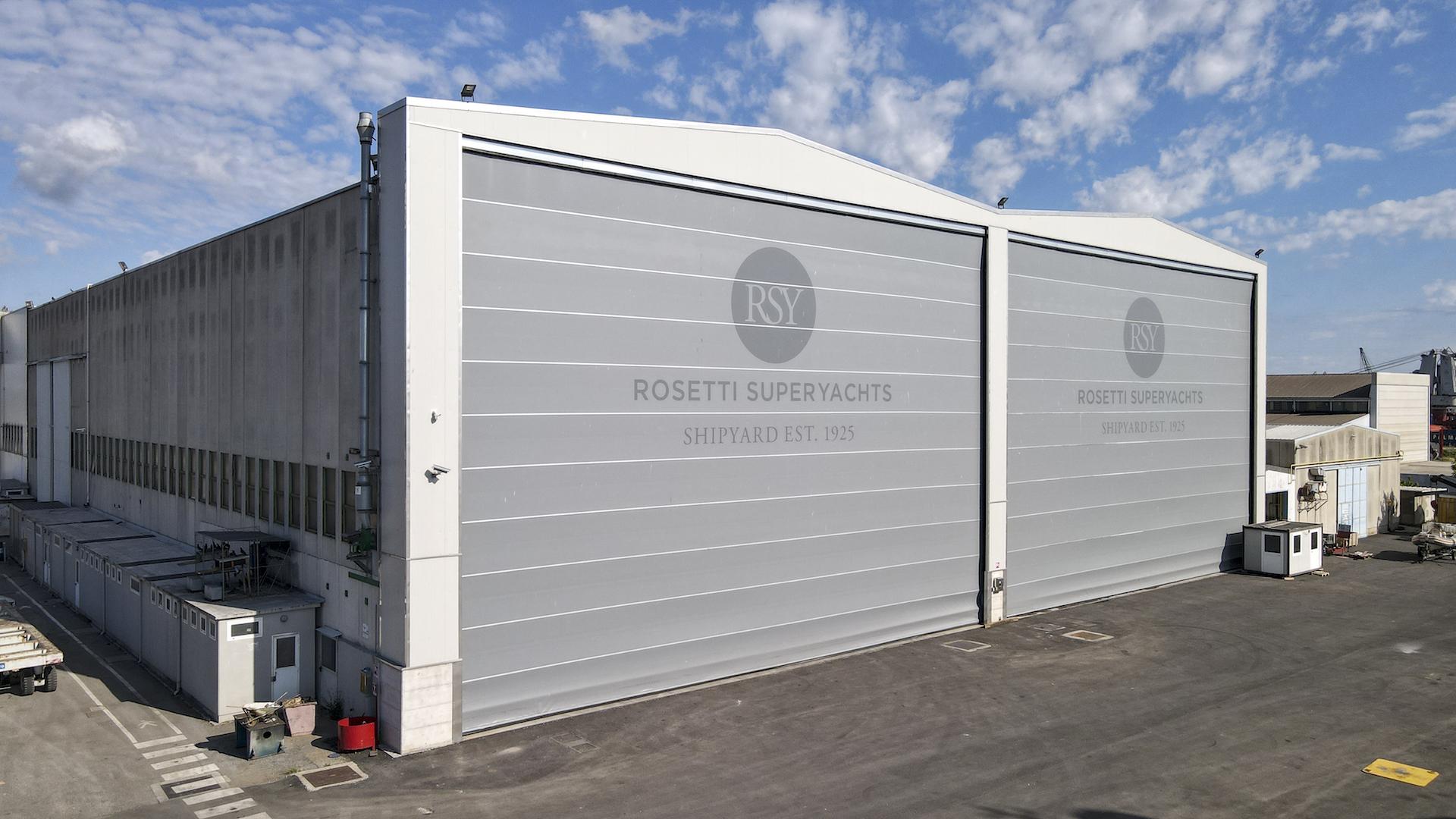 Rosetti superyachts warehouse exterior