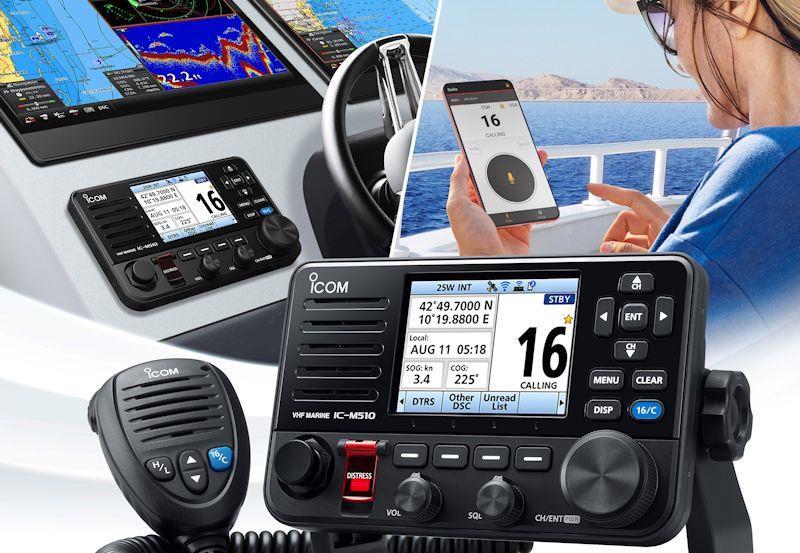 Icom all new VHF Radios promotional images