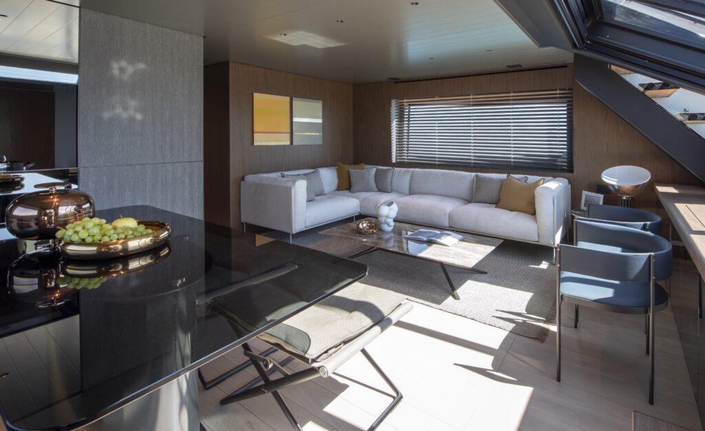 The Bluegame BG72 interior living space