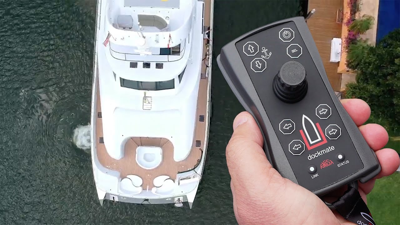 Dockmate being used to control vessel