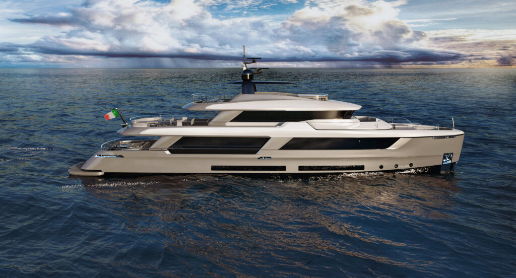 Classic 37 from Atlante Yachts side profile