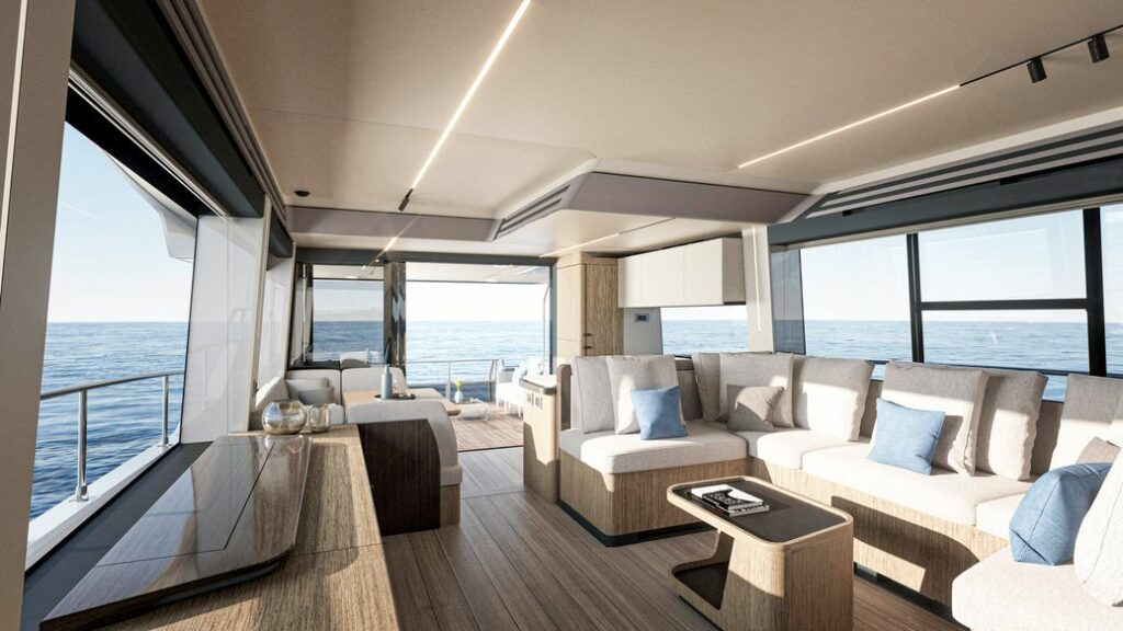 Absolute 60 Fly interior living area