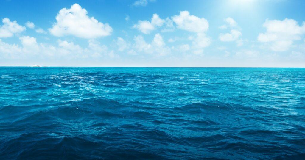 open ocean water with sky