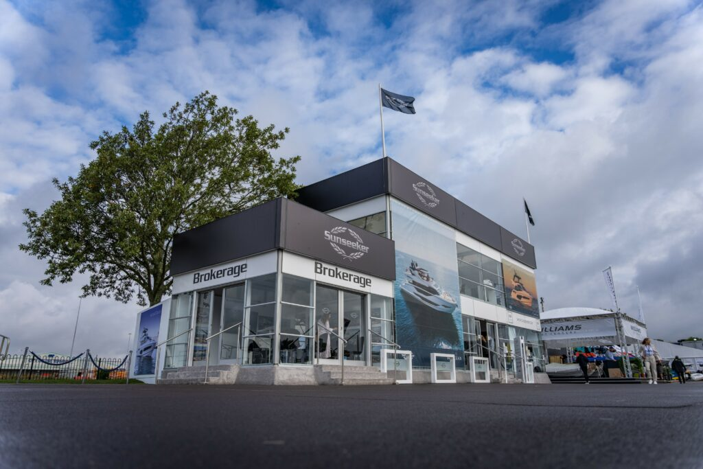 Sunseeker stand at the Southampton Boat Show