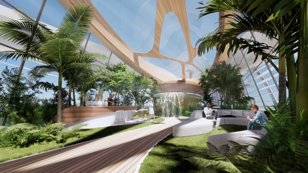 3Deluxe concept superyacht onboard garden alternate shot