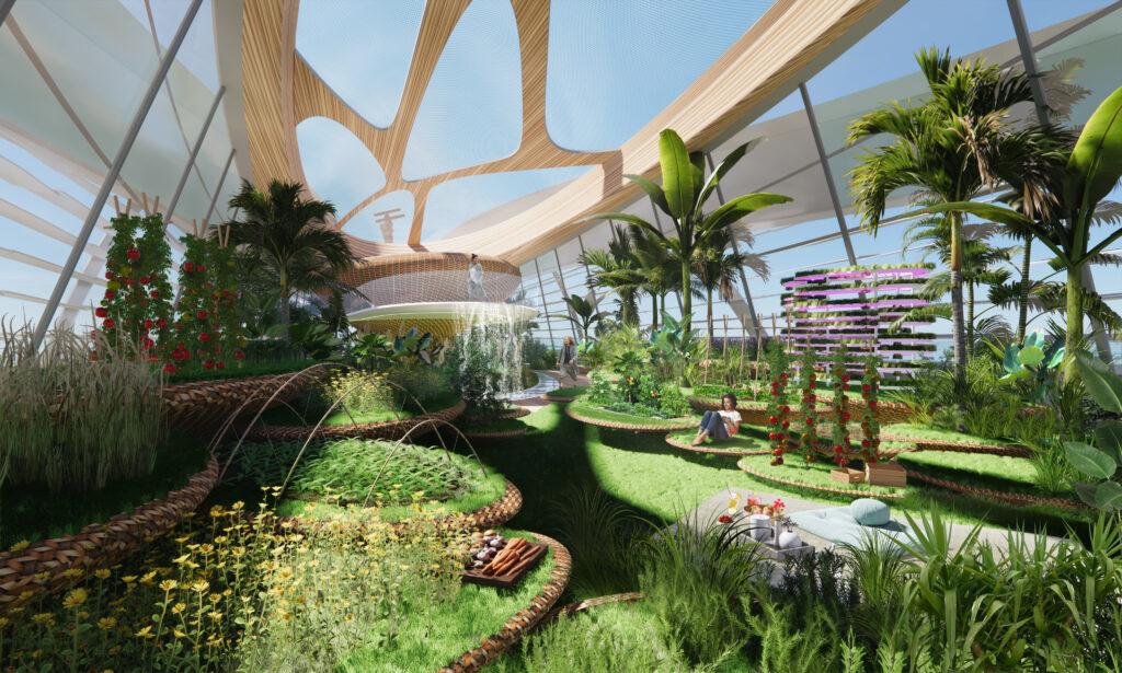 3Deluxe concept superyacht onboard garden