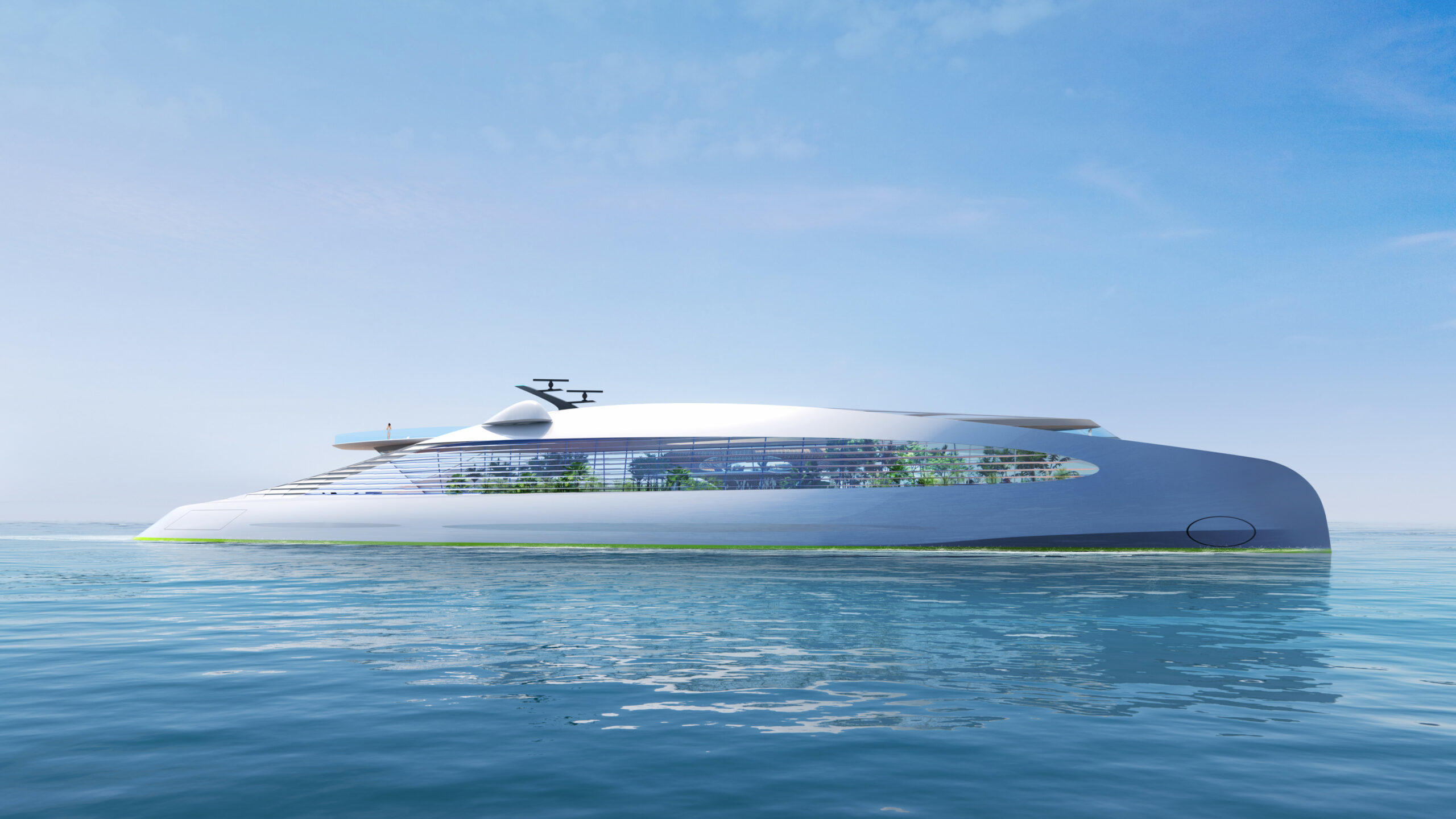 3Deluxe concept superyacht side profile