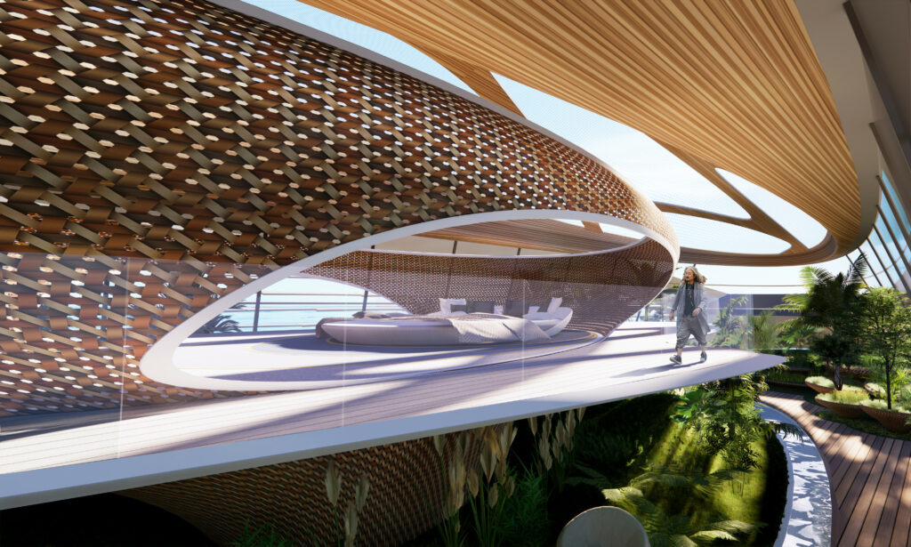 3Deluxe concept superyacht master bedroom