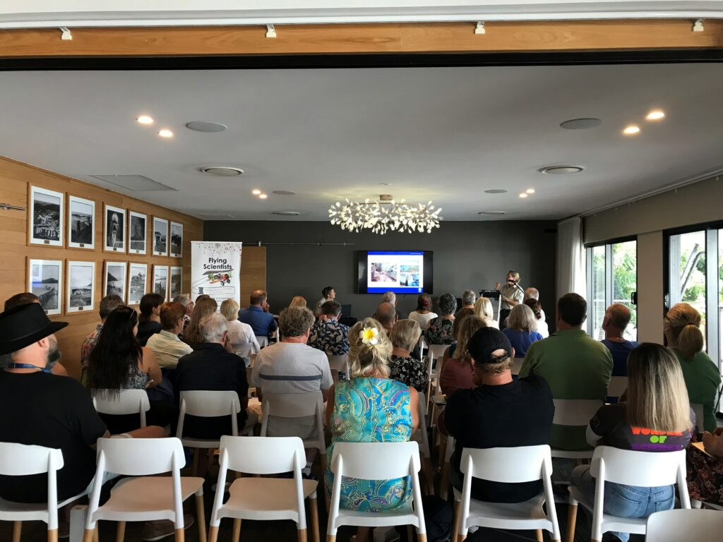 Lookout lounge at Coral Sea marina Resort with presentation going on