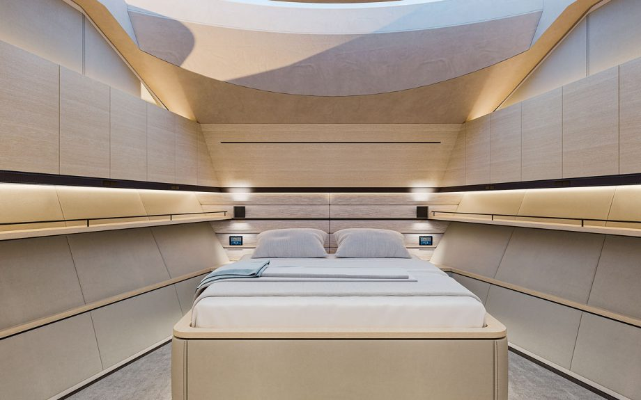 master suite onboard the Wajer 77