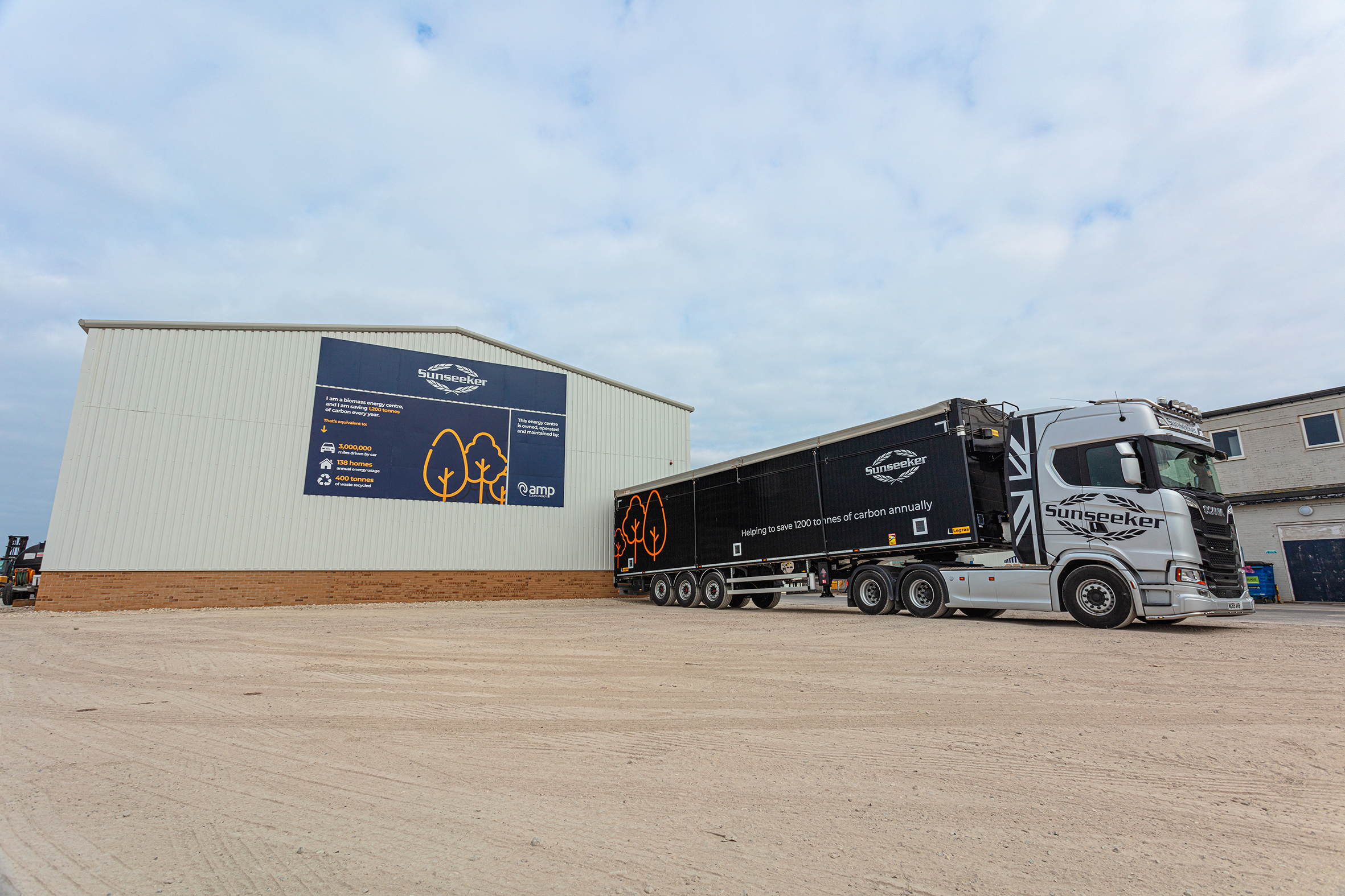 Sunseeker AMP facility with truck alternate angle