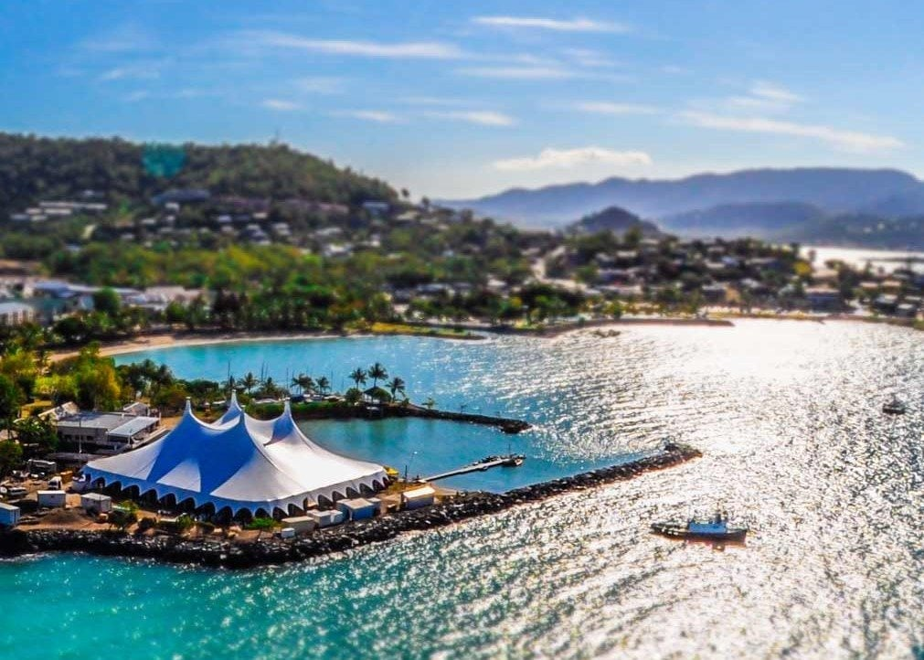 Airlie Beach Music Festival from above