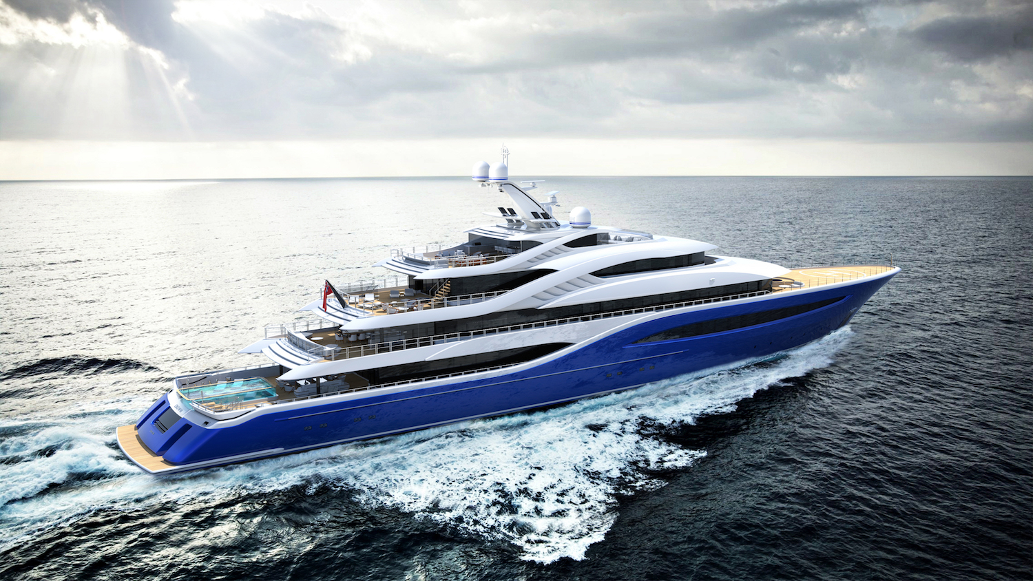 Turquoise Yachts Project Vento cruising from rear