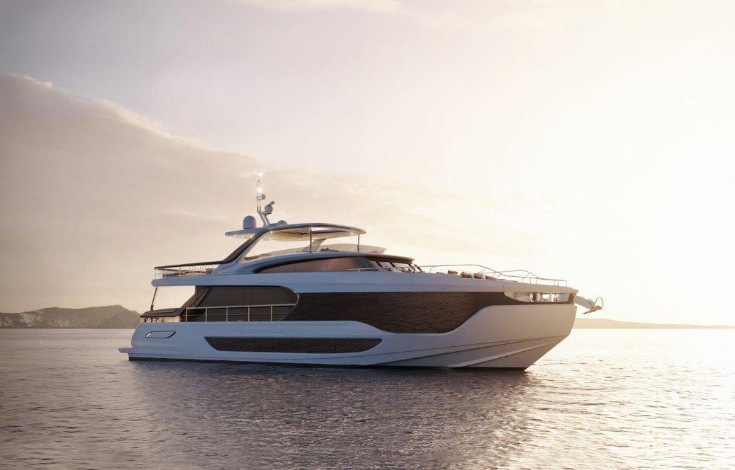 Azimut Yachts Grande 26 Metri side profile anchored