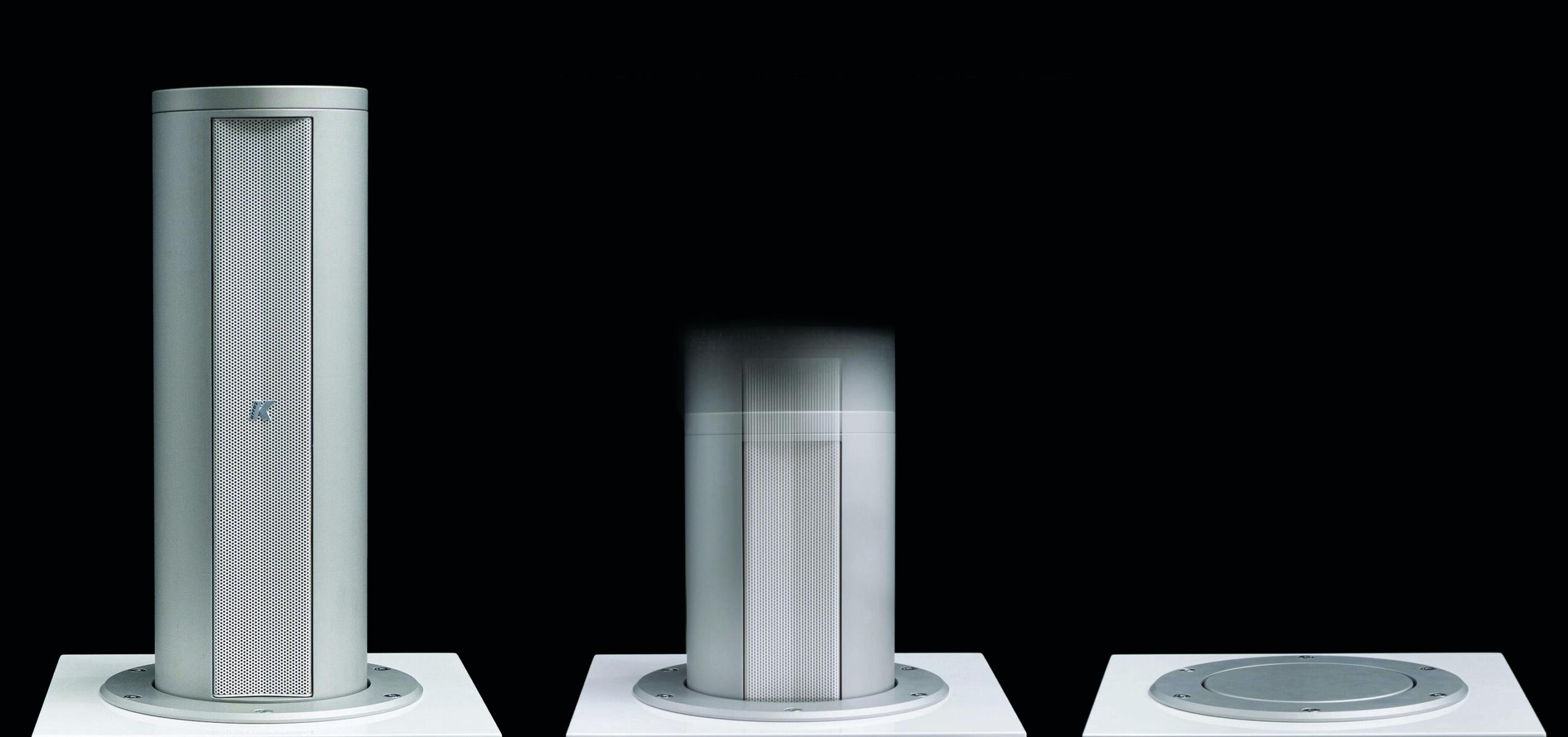 Videoworks pop up speaker product shot