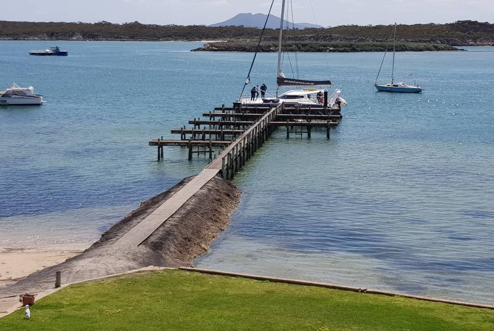 Jetty at Coffin Bay Marina