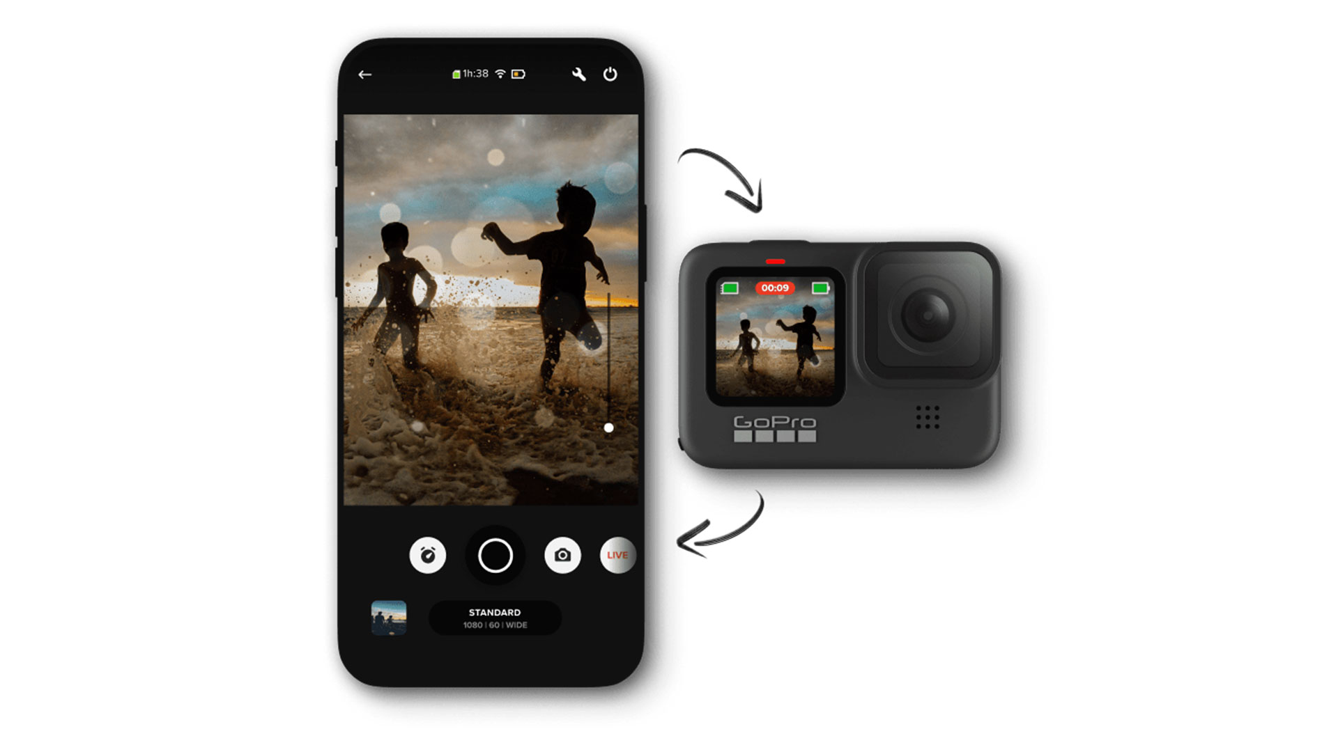 GoPro and Quik App product shot