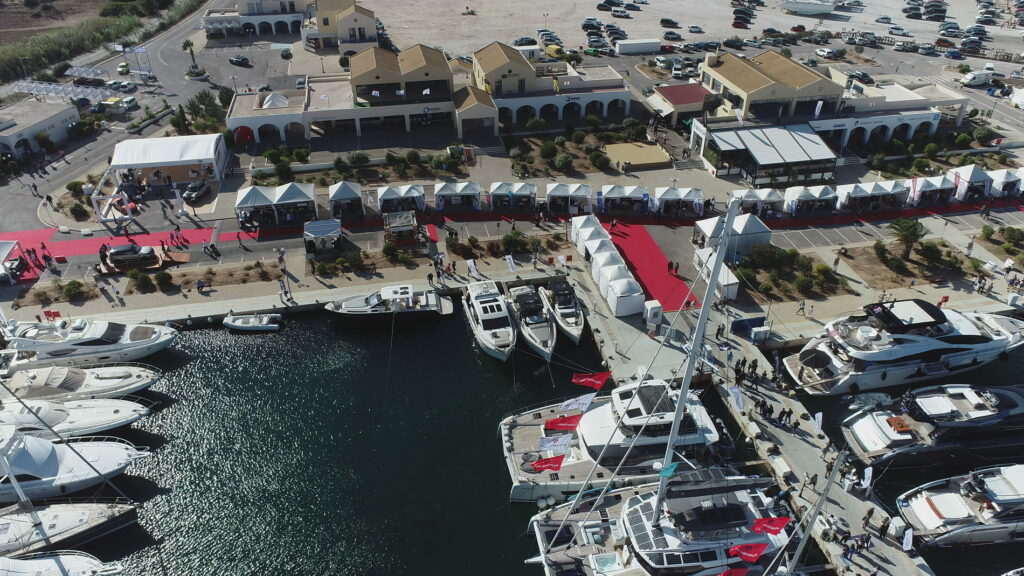 Aerial shot of the 1st ever Olympic Yacht Show
