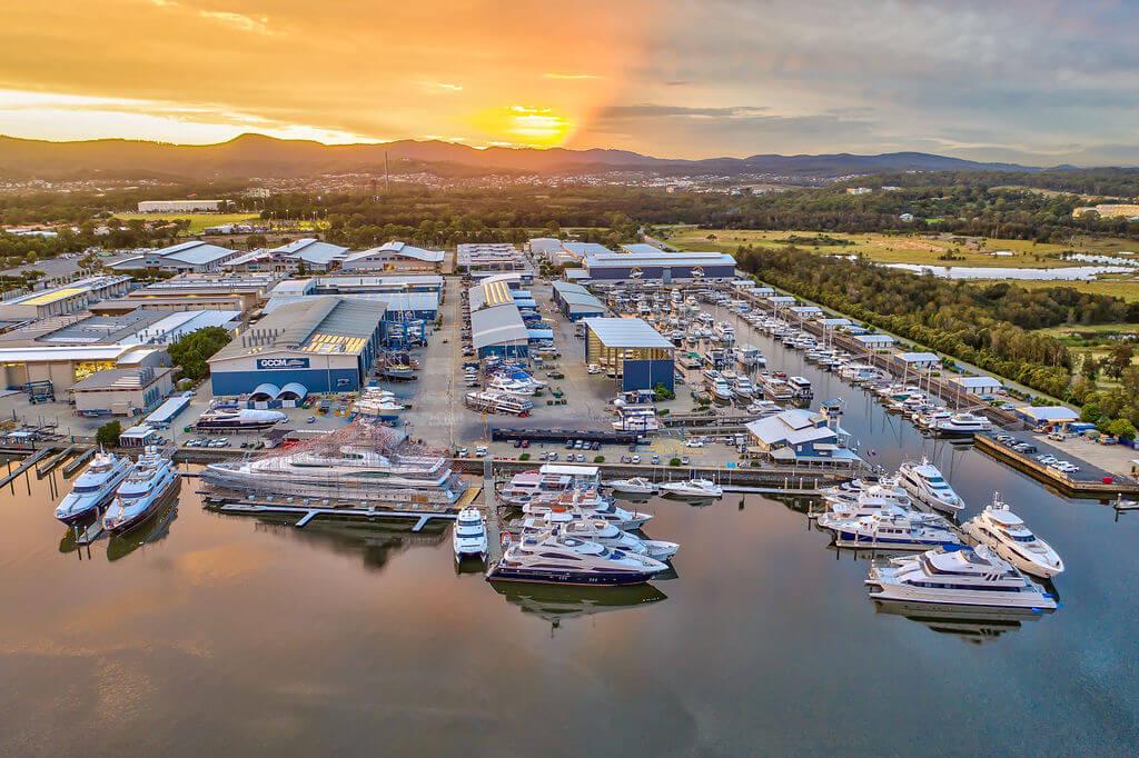 Gold Coast City Marina aerial shot