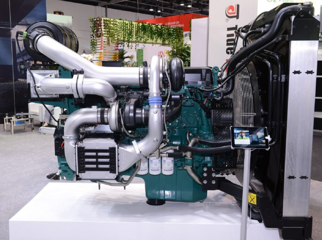 Shot of the new sustainable engines from Al Masood Power