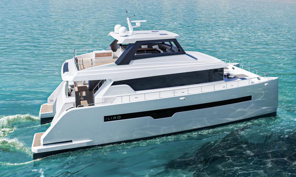ILIAD 60 Catamaran cruising side angle