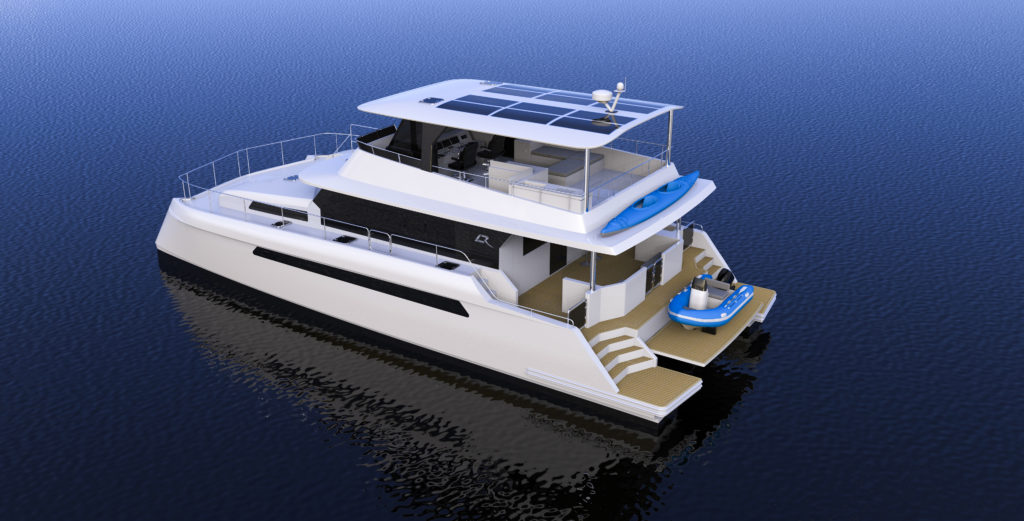 Render of the Longreach 58 anchored